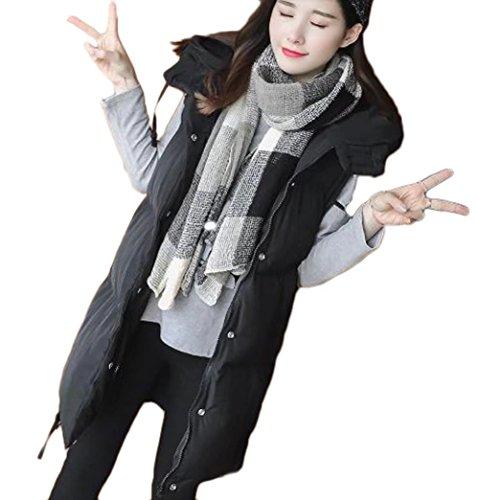 束ねる家具椅子YINGCANレディース フード付き ダウンベスト 厚手 軽量 ノースリーブ ダウンコート 無地 韓国風 ファッション アウター