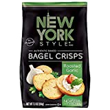 New York Style Bagel Crisps Garlic, 7.2 Ounce - Perfect topper for salads