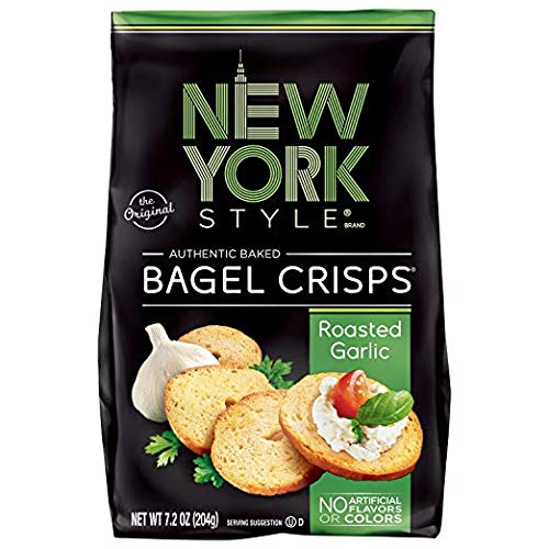 New York Style Bagel Crisps Garlic, 7.2 Ounce - Perfect topper for salads by New York Style