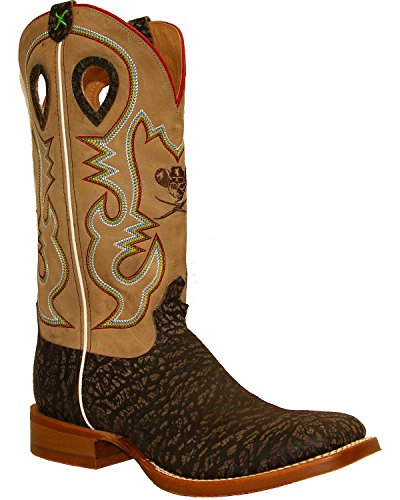 Twisted X Men's Ruff Stock Cowboy Boot Square Toe Taupe 11 D