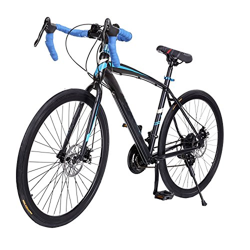Fashine 700C 21 Speed Shimano Road Bicycle Fixed Gear Cycling Racing Mountain Bike(US Stock) For Sale