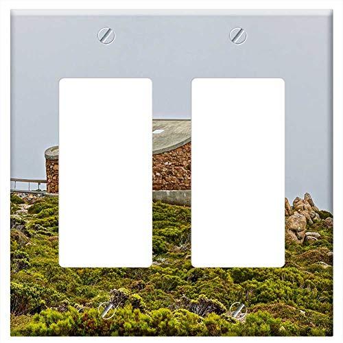 Switch Plate Double Rocker/GFCI - Lookout Observation Deck Tourism Mt ()