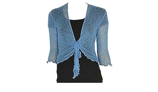 Style Wise Fashion Bolero de Punto para Mujer con Abertura Frontal ...