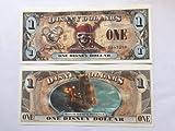 Disney Dollars 2011 Pirates Queen Anne's Revenge $1 Bill (Disney World)