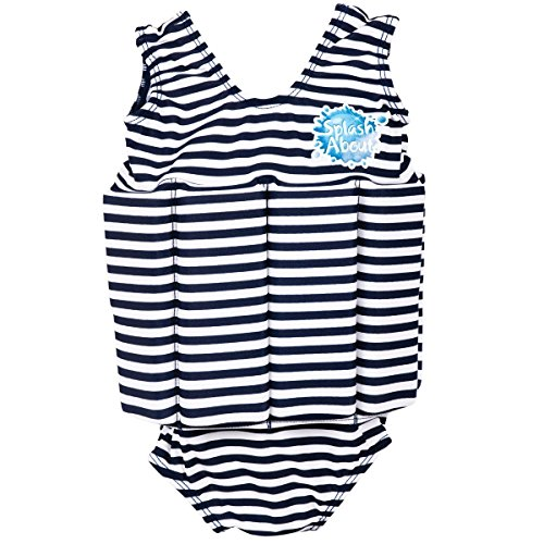 Splash About Float Suit with Adjustable Buoyancy (Swimwear), 1 to 2 Years, Navy & White Stripe