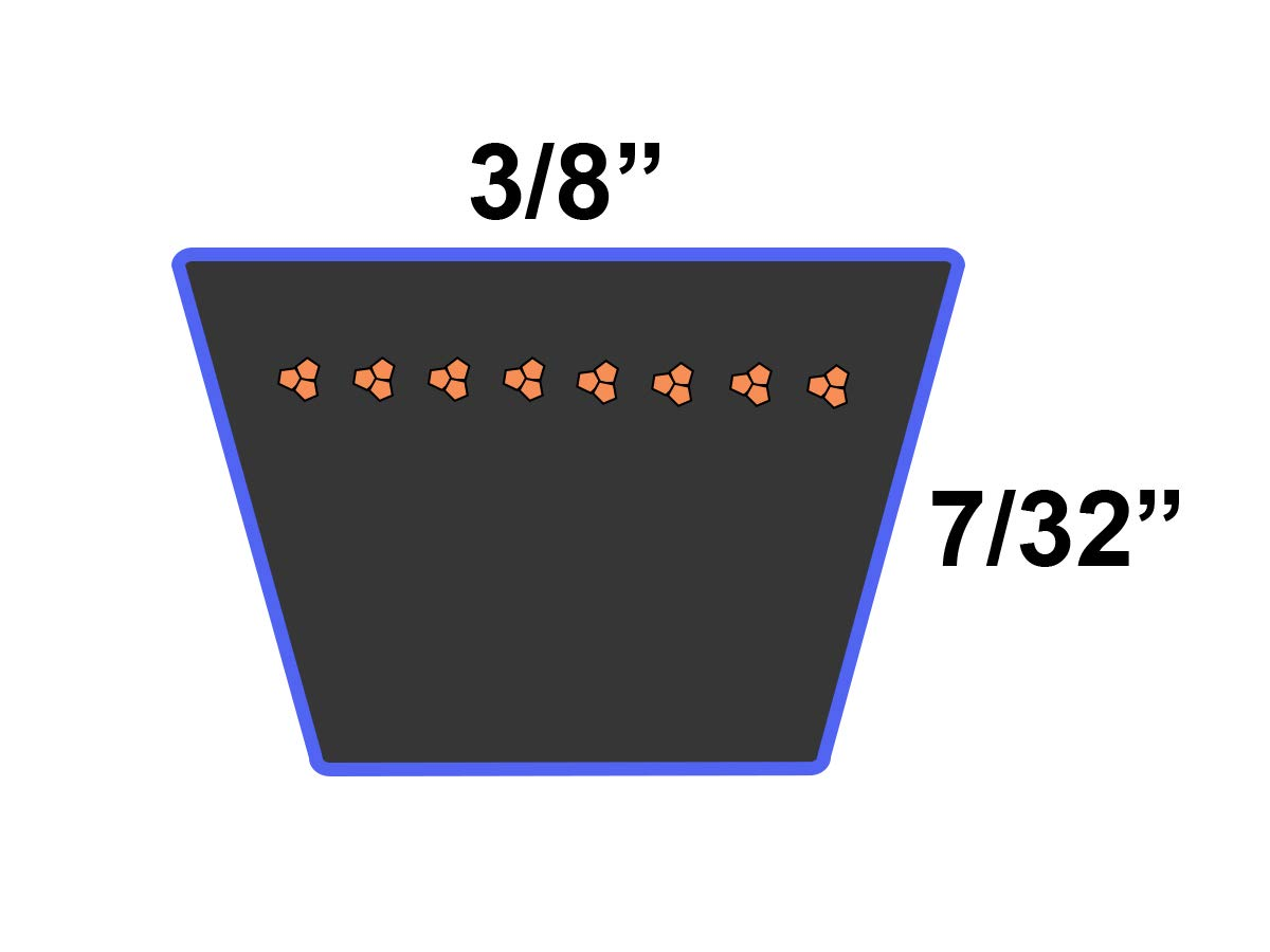 Rubber 3LK Belt Cross Section 24 Length D/&D PowerDrive M24 KUBOTA Kevlar Replacement Belt