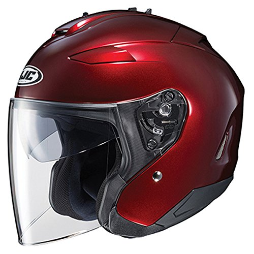 HJC IS-33 II Open Face Helmet Wine Red XL ()