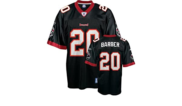 a435bd286fc Amazon.com: Ronde Barber Youth Jersey: Reebok Black Replica #20 Tampa Bay  Buccaneers Jersey - Large (14-16): Clothing