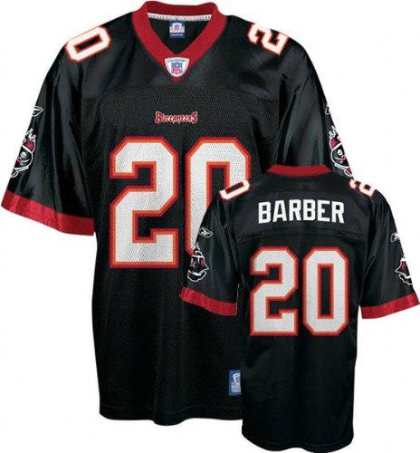 4caea114384 Ronde Barber Youth Jersey: Reebok Black Replica #20 Tampa Bay Buccaneers  Jersey - Large