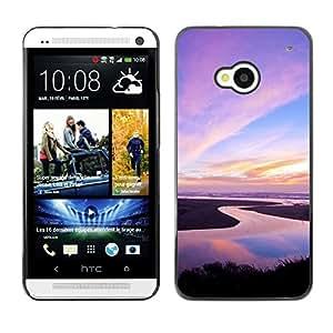 Paccase / SLIM PC / Aliminium Casa Carcasa Funda Case Cover - Nature Pink Sky - HTC One M7