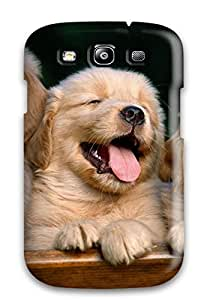 Waterdrop Snap-on Golden Retriever Puppies Case For Galaxy S3