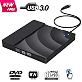 External CD Drive, BOSLISA USB 3.0 CD/DVD-RW Drive, CD-RW Rewriter Burner Optical DVD Superdrive High Speed Data Transfer for Laptop Macbook Desktop Computer