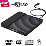 External CD Drive, BOSLISA Touch Control USB 3.0 CD/DVD+/-RW Burner Player, Optical Superdrive High Speed Data Transfer for Laptop MacBook Desktop Computer Compatable for Windows10 /8/7/XP/Mac OS