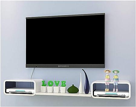 Dormitorio pequeño sala de estar oficina estante flotante Tableta marco flotante Soporte de TV pared colgante fondo ...