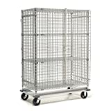 Wire Security Storage Truck with Dolly Base, 36x24x70, 1600 Lb. Cap.
