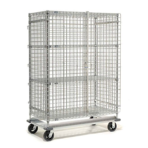 Wire Security Storage Truck with Dolly Base, 36x24x70, 1600 Lb. Cap. by Nexel
