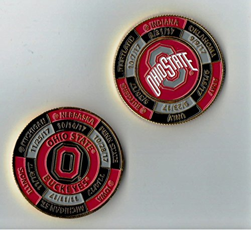 Ohio State Buckeyes 2017 Game Day Schedule Coin w/ Ball Marker