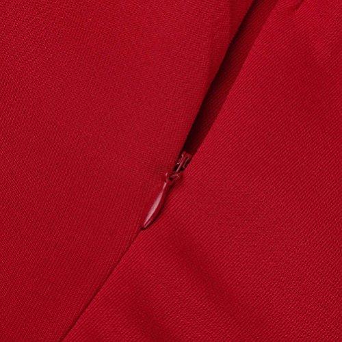 Jupe Slim Avant De Sexy Au Jupe De Mode Parties Robe lgant Genou Robe Crayon Femmes AsymTrique Slash Bra New S Couleur Taille Jupe SoirE Cou Chic Femmes ADESHOP XL Rouge Pure Sac Cocktail gOZqvtt