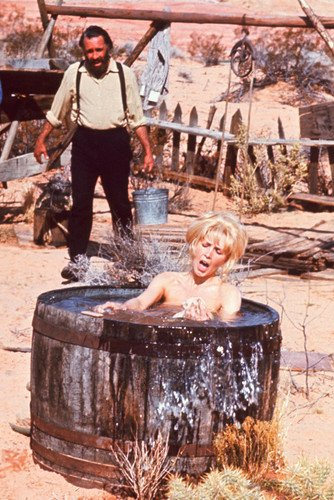 Jason Robards and Stella Stevens in bath tub Sam Peckinpah The Ballad of Cable Hogue 24x36 (Cable Hogue Poster)