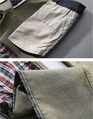 Dritti Estilo Elasticizzato In Fit Ripped Skinny Pantaloni Holes Slim Jeans Uomo Denim Especial Alla Da Moda Dunkelblau vBxdAqvp