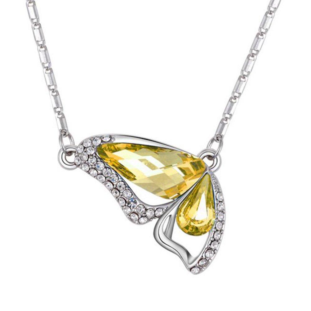 Wicemoon Kristall Schmetterling Halskette Kreative Pers/önlichkeit Halskette Schmuck Geschenk