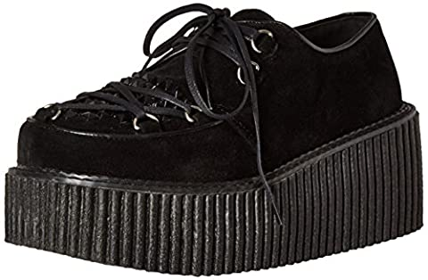 Demonia Women's Cre216/Bvs Fashion Sneaker, Black Vegan Suede, 9 M US - Demonia Gothic Boots