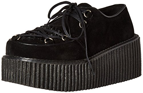 Demonia Women Cre216/Bvs Fashion Sneaker Black Vegan Suede