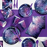 Galaxy Party Birthday Party Supplies Kit, Serves 8