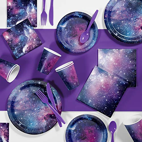 (Galaxy Party Birthday Party Supplies Kit, Serves)
