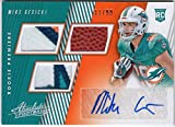 #2: Mike Gesicki 2018 Panini Absolute Rookie Auto Triple Jersey Patch Football Relic Serial #11/99 Miami Dolphins RC Autograph