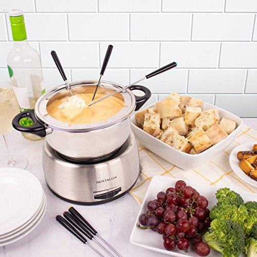 Nostalgia FPS200 6-Cup Stainless Steel Electric Fondue Pot by Nostalgia (Image #6)