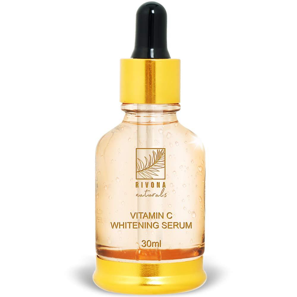 [Apply coupon] Rivona Naturals Vitamin C Serum with Hyaluronic Acid - Skin Clearing Serum - Brightening, Anti-Aging Skin Repair, Supercharged Face Serum, Dark Circle, Fine Line & Sun Damage Corrector - 30ml