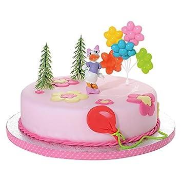 Tortendeko Daisy Duck 4 Teiligtortenaufleger 1 Geburtstag