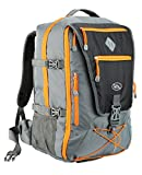 Cabin Max Equator Backpacking Flight Approved Backpack with Integrated Rain cover, Waist and Chest Straps (Grey/Orange)