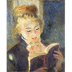 Oil Painting 'Pierre-Auguste Renoir-The Reader,1875', 16 x 20 inch / 41 x 50 cm , on High Definition HD canvas prints is for Gifts And Bed Room, Foyer And Laundry Room Decoration, deals