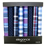 Retreez 8 Piece Pure Cotton Assorted Men's Handkerchiefs Hanky Gift Box Set - Assorted Set A5A004