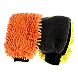 DeemoShop Multi-Function 3 in 1 Car Wash Gloves Car Cleaning Wax Detailing Brush Microfiber Chenille Auto Care Waterproof Car-Styling