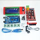 prusa i3 1pcs Mega 2560 R3 + 1pcs RAMPS 1.4 Controller + 5pcs A4988 Stepper Driver Module +1 pc RAMPS 1.4 2004 LCD control for 3D Printer kit