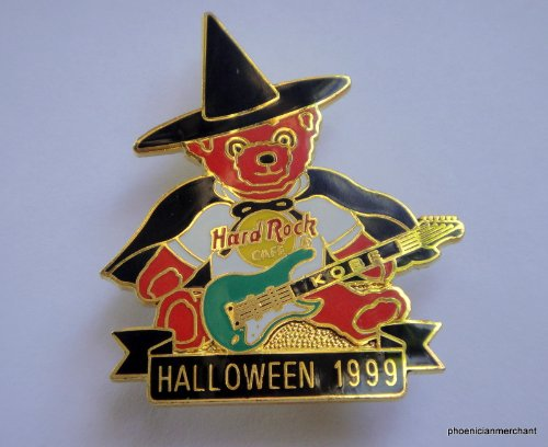 Halloween 1999 Red Teddy Bear w/ Halloween Costume Hard Rock Cafe Kobe Japan -