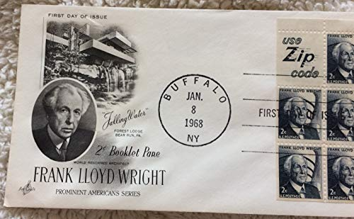 Frank Lloyd Wright First Day of Issue, stamps and envelope, 1968 ()