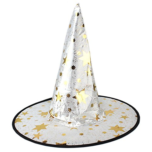 Alonea® Monolayer Adult Womens Witch Hat For Halloween Costume Accessory (White) -