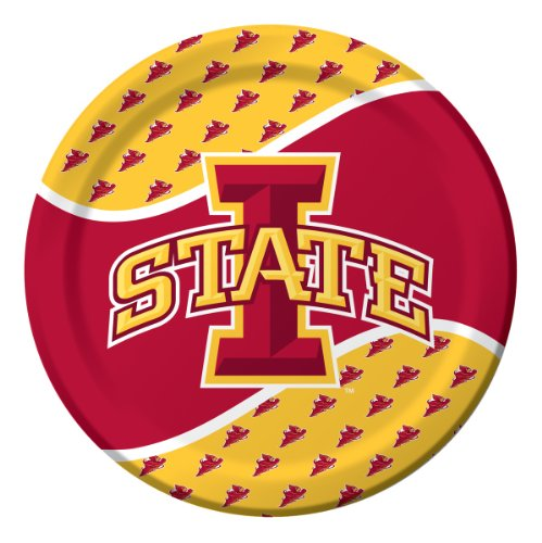 Iowa State Cyclones Lunch - 8-Count Paper Dinner Plates, Iowa State Cyclones