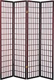 Major-Q 7033-CH-4PANELS Decoration Japanese Oriental Style Room Screen Divider
