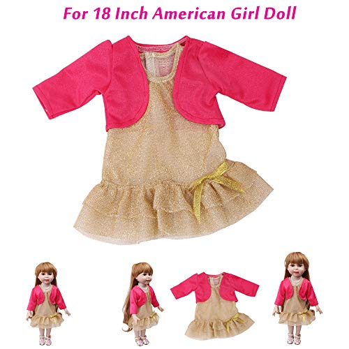 PSFS Cute Autumn Clothes Skirt,for 18 Inch Our Generation American Girl Doll (Hot Pink)