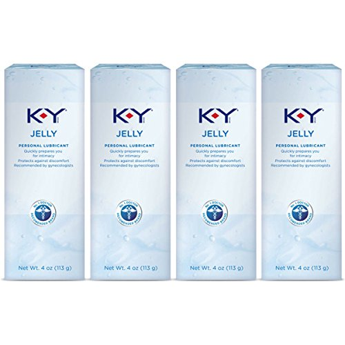 K-Y Jelly Personal Lubricant 16 oz (4 Bottles x 4 oz), Premium Water Based Lube For Women, Men & Couples, Pack of 4