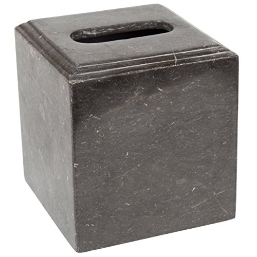 Creative Home 34020 Charcoal Marble Tissue Box Holder Bath Accessories