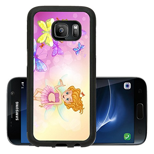Luxlady Premium Samsung Galaxy S7 Aluminum Backplate Bumper Snap Case IMAGE ID: 19873996 Illustration of a fairy with the colorful (Magician Costume Target)