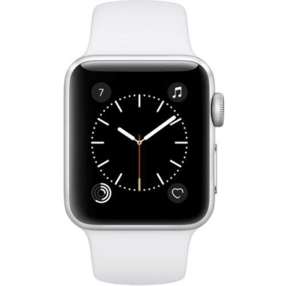 Apple Watch Series 2 42MM SmartWatch Silver with White Sport ...