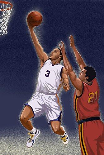 Basketball Player (24x36 Gallery Quality Metal Art) by Lantern Press (Image #5)