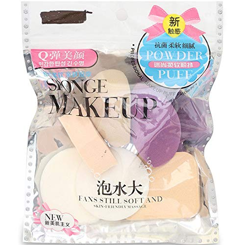 Squared Make Up Sponge Beauty Blender Puff (Color May Vary)- Set of 6